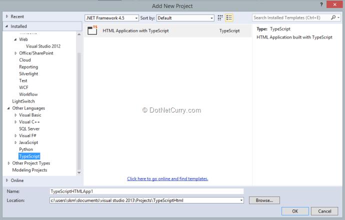 typescript-html-application