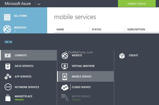 create-mobile-service