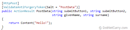 ASP NET MVC and Multiple Submit Buttons–Part 2 | DotNetCurry