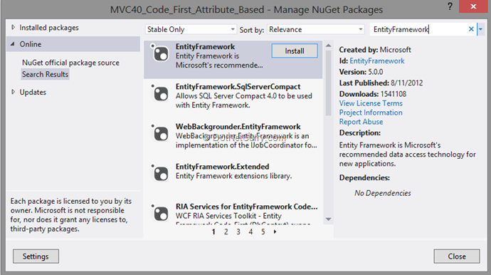 add-entity-framework