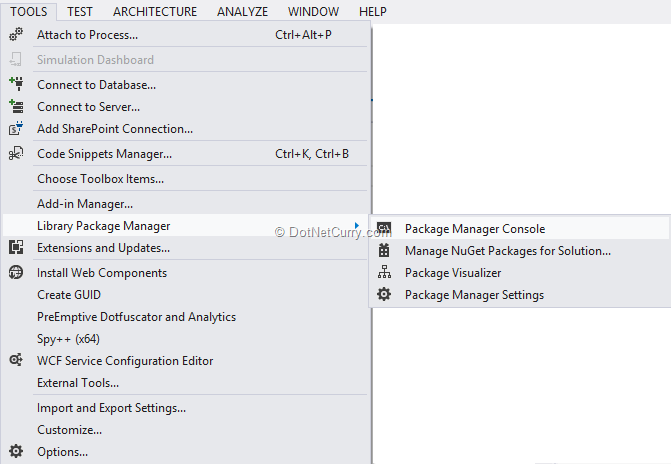 launch-package-manager-console