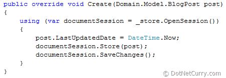 RavenDB Create