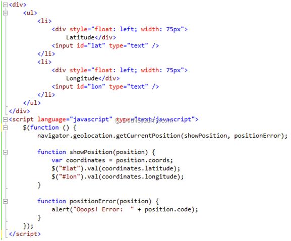 html5-geolocation