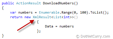 mvc serialize data xml