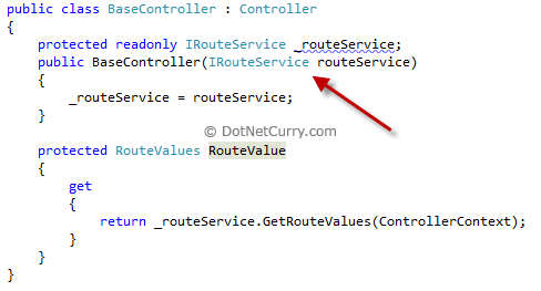 MVC Ioc Ninject IRoute Service