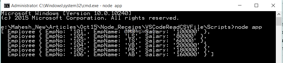 node-csv-result