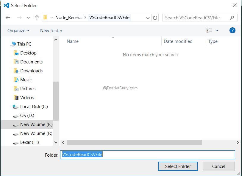 Read a CSV file using Node js | DotNetCurry