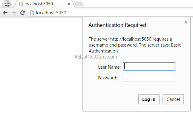 Basic Authentication in Node js | DotNetCurry