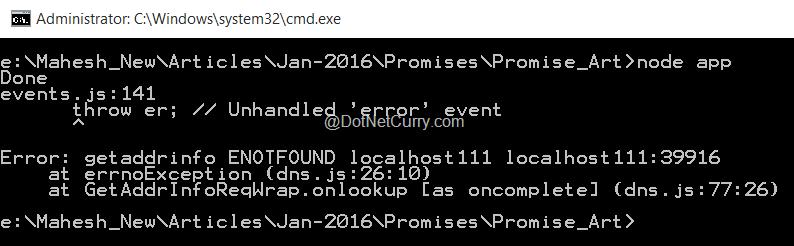 nodejs-promise-rejected