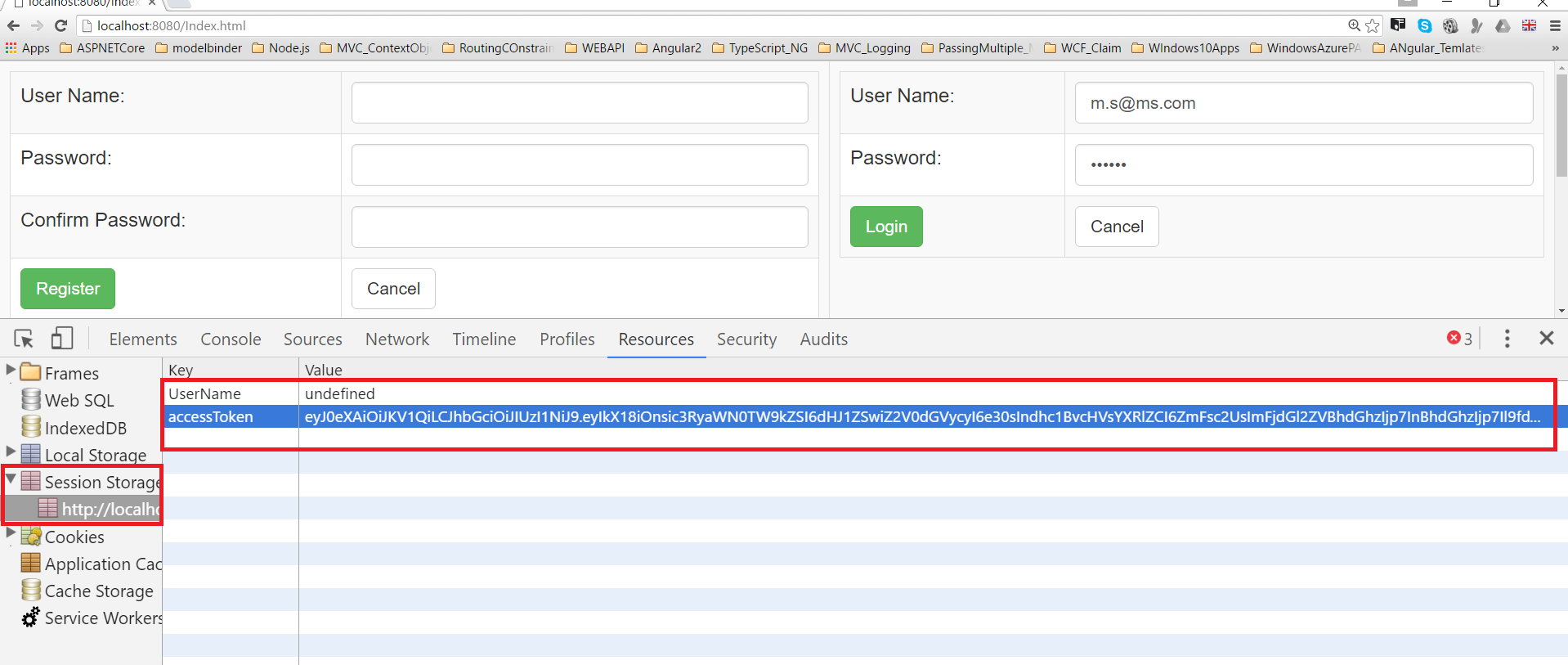 Token Based authentication in Node js using JSON Web Tokens