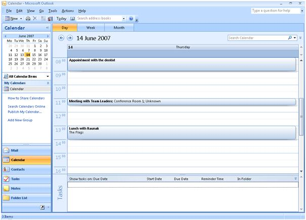 Outlook Calendar Module