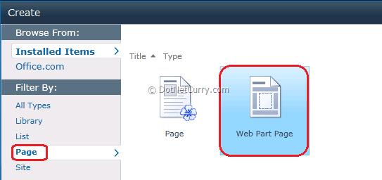 Web Part Page