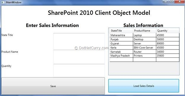 WPF Interface for SharePoint 2010 Client Object Model