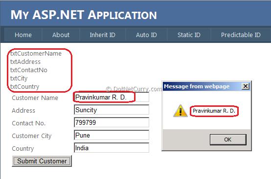 ASP.NET ClientID Static