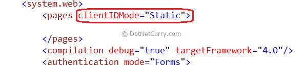 ClientID Mode Webconfig level