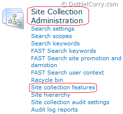 site collection administration