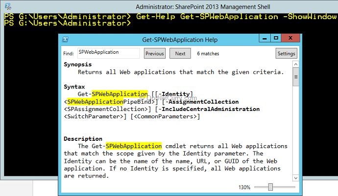 Using PowerShell in SharePoint 2013 | DotNetCurry