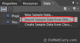 Expression Blend Import Sample Data