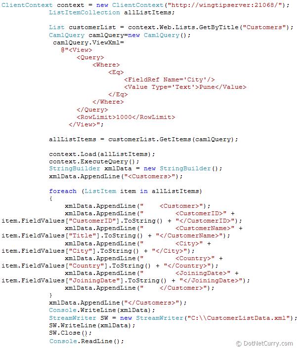 sharepoint-xml-generate