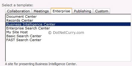 business intelligence center template