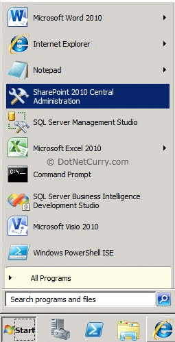 sharepoint central administrator