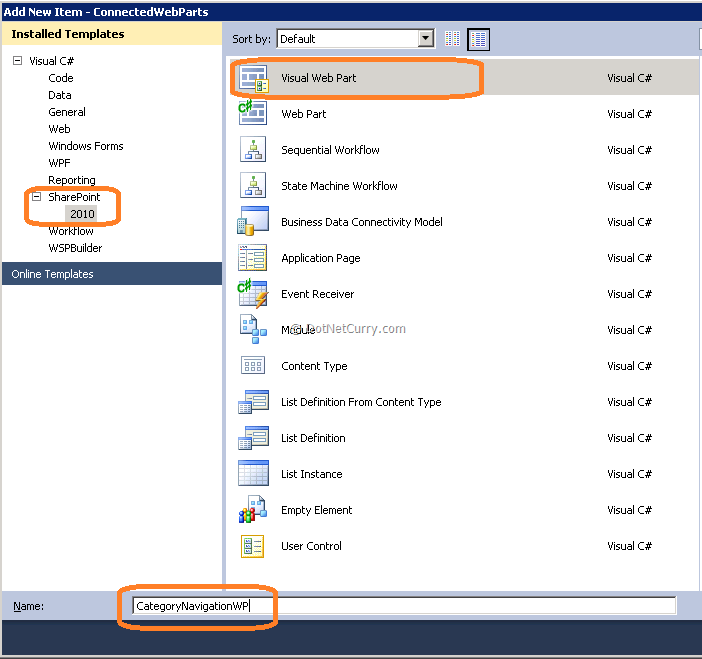 Connected Web Parts in SharePoint 2010 - an Architectural Framework