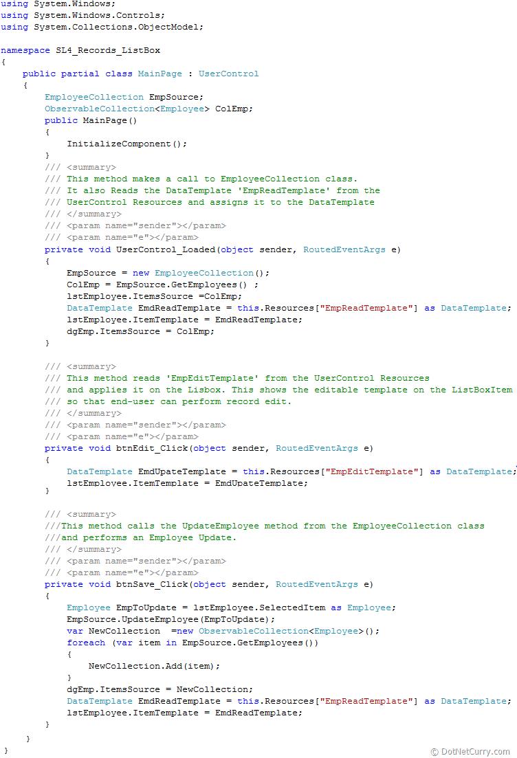 silverlight-runtime-data-template
