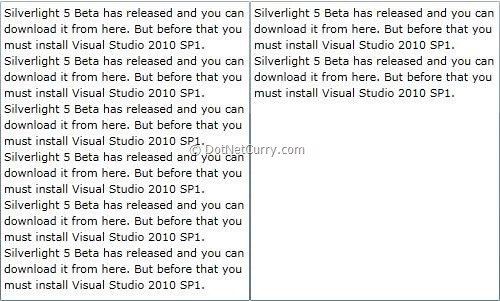 Silverlight 5 RichTextBoxOverflow