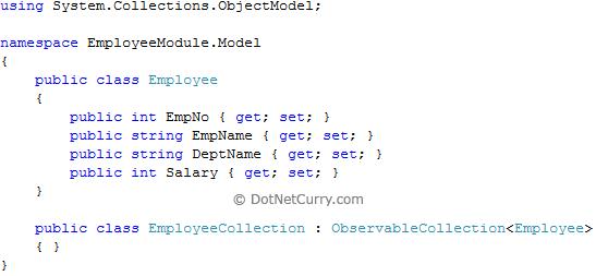 employee model class
