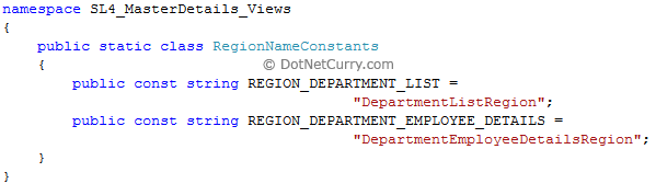 region name constants
