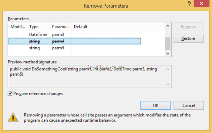 remove-parameters