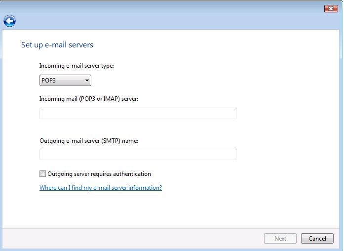 Windows Mail Steps