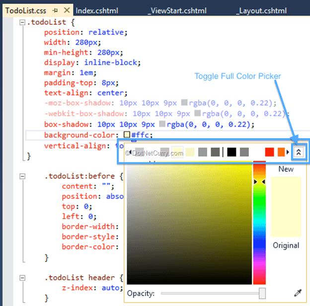 Enhancements for the ASP NET Web Developer in Visual Studio