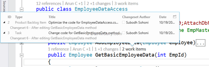 code-history-work-items