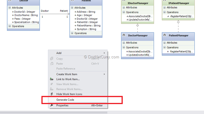 Code generation from uml class diagram in visual studio 2012 vs generate code ccuart Image collections