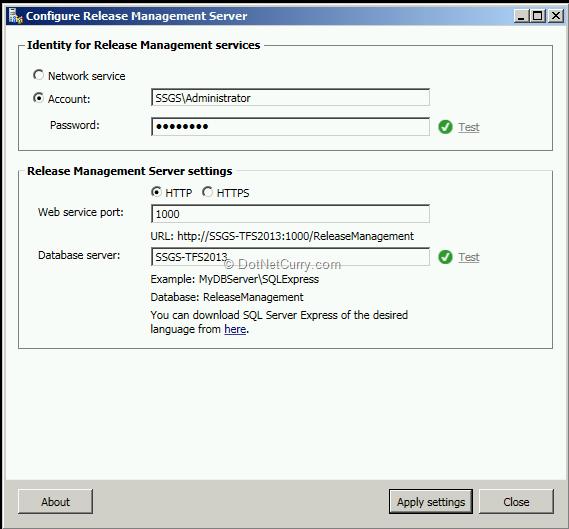 release-management-server-configuration
