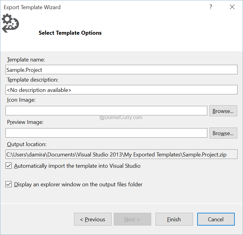 Create Your Own Project Template for Visual Studio 2013 and