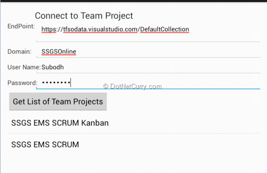 Creating Android Client for Team Foundation Server 2012