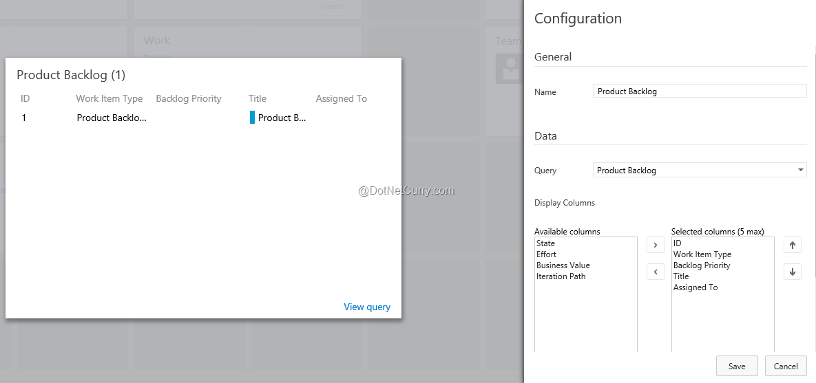 Customize Welcome page and Dashboards in Visual Studio Team