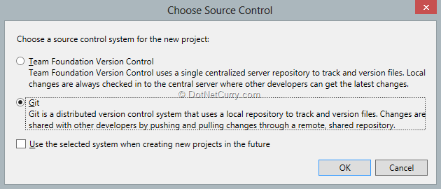 select-git-as-source-control