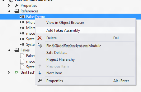 add-fakes-assembly