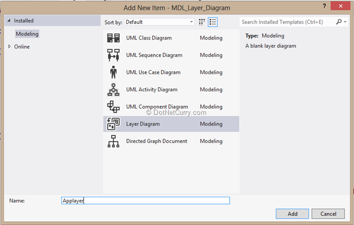 Layer diagram in visual studio 2012 dotnetcurry layer diagram ccuart Choice Image