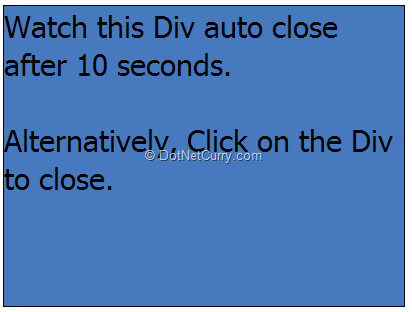 Timer Based Animations using jQuery | DotNetCurry