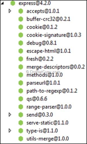 express-package-dependencies