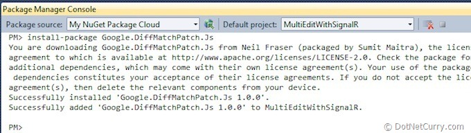 nuget-package-console