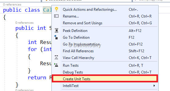 create-unit-test
