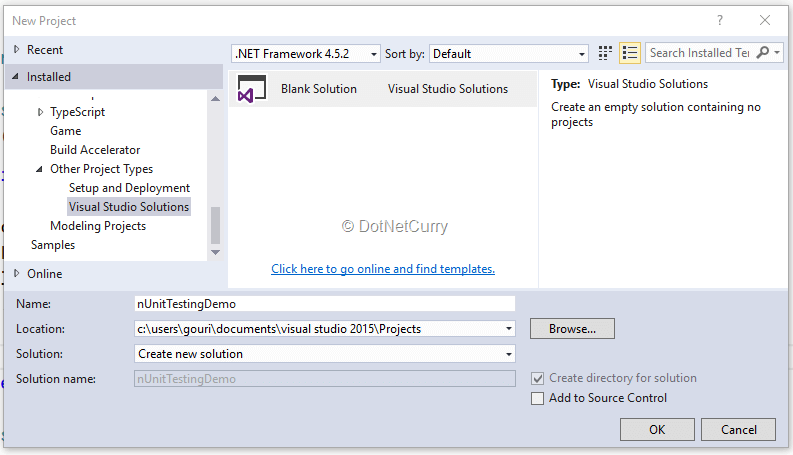 NUnit Testing with Visual Studio 2015 | DotNetCurry