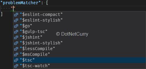 problem-matcher-configuration