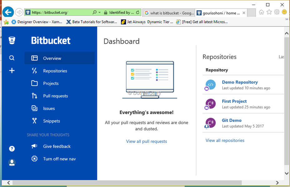 bitbucket-dashboard
