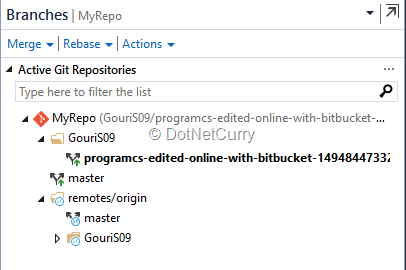 Using Bitbucket for Git in Visual Studio 2017 | DotNetCurry